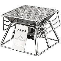 isasar faltbar tragbar Grill Grill BBQ + schwarz Oxford Tragetasche für Camping, Picknicks, Rucksackreisen, Haustür, Survival, Notfall Vorbereitung