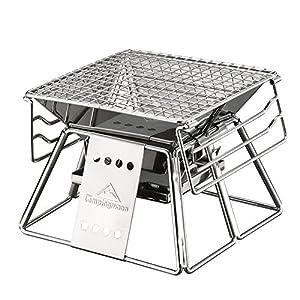 Isasar, tragbarer Grill mit Tragetasche aus schwarzem Oxford-Gewebe, Campen, Picknicks, Wandern, Gartenpartys, Überlebensausrüstung