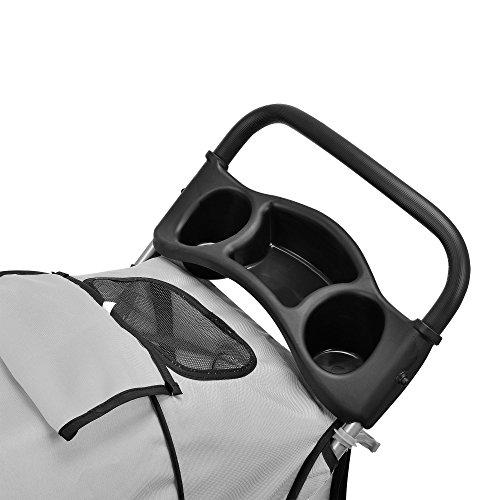 [pro.tec] Hundewagen Pet Stroller Hundebuggy Regenschutz zum Schieben Roadster inkl. Einkaufstasche Grau - 4