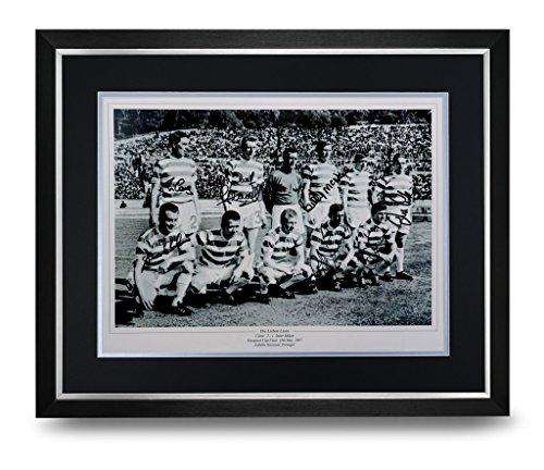 Celtic-Signed-Photo-Large-Framed-Display-Lisbon-Lions-Autograph-Memorabilia-COA