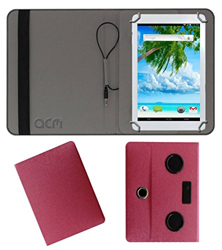 Acm Portable Rotating Music Speaker & Cover for Ambrane Aq11 Tablet Case Stand Pink  available at amazon for Rs.539