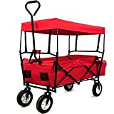 Deuba Garden Trolley Cart Folding Transport Hand Truck Trailer Utility Cart 100kg Removable