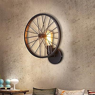 GBYZHMH Wandleuchte Industrie Retro Eisen Kunst Rad Gang Leuchten Schlafzimmer Nachttischlampe Balkon Restaurant Beleuchtung