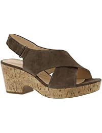 CLARKS Womens Brizo Cady Flat Sandal Aubergine 12 W US