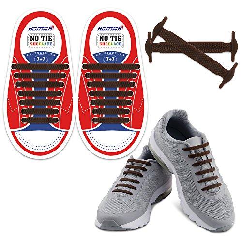 Homer Kein Tie Kinder Shoelaces Schalten Sie Ihre Schuhe in Slip-On Wasserdichte Silikon Lauf Shoelaces Schnürsenkel Perfekt für Kinder - Brown Kinder Slip-on Schuhe