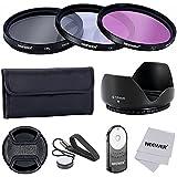 Neewer, Professionale Lente Filtro Kit Di Accessori E Ir Wireless Rc-6 Telecomando Per Canon Eos 400D 450D 500D 550D 600D 650D 700D 100D / Rebel Xti Xsi T1I T2I T3I T4I T5I Con Filo Filtro 58Mm
