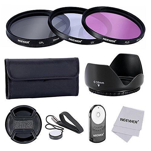 Neewer 58mm Professionelle Objektiv-Filter Zubehörsatz und IR Drahtlose RC-6-Fernbedienung Set für Canon EOS Rebel T5i T4i T3i T3 T2i T1i XT XTi XSi SL1 Kameras Xsi Filter