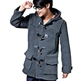 Cloudstyle Herren London Dufflecoat warm Lange Wollmantel Winter
