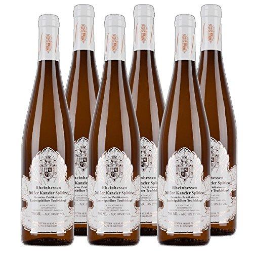 Ludwigshöher Teufelskopf Kanzler Spätlese Weißwein Rheinhessen 2016 lieblich (6x 0.75 l)
