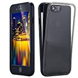 Snewill iPhone 8/7 Waterproof Funda Case, Crystal Clear Ultra Slim Underwater 360 Full Body Protective Funda Case Dust Proof Snowproof Shockproof Cover for Apple iPhone 7 - Black