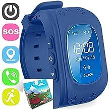 Jslai Reloj Localizador Niños Kids Reloj Inteligente para niños niñas Reloj Digital con Anti-Lost