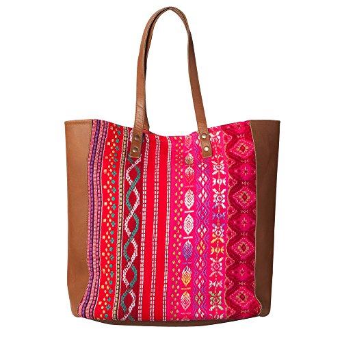 Room Seven BVBig shopper - Borsa shopper Donna Multicolore(Pink)