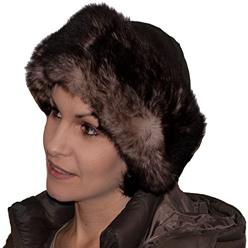 Russian Cossack Ladies Hat - 100% Genuine Leather and Faux Fur Lining