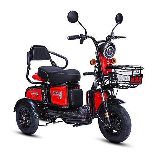 Oaimk Elektromobil Dreirad Scooter 3 Rädern für Erwachsene, Behinderte und ältere Menschen, 600W Motor, 3 Geschwindigkeit Einstellbar, 55km Reichweite, Höchstgeschwindigkeit 25 km/h