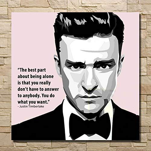 MYT POP heißer Justin Timberlake Movie Star handgemaltes ölgemälde Kunst Wandbild auf Leinwand Poster für Wohnzimmer wohnkultur
