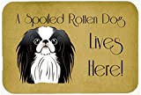 """Caroline's Treasures BB1478CMT Japanese Chin Spoiled Dog Lives Here Kitchen or Bath Mat, 20 by 30"""", Multicolor"""