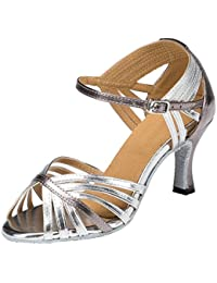 F&M - Zapato stiletto de baile con tacón, con correas