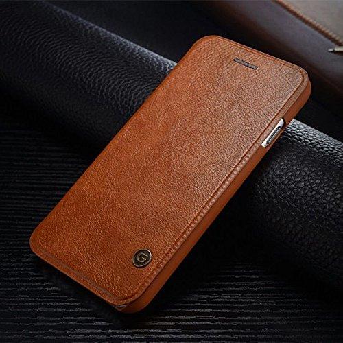 Nxet® G-Case Luxe Cuir Flip Cover wallet Card Coque pour iPhone 5/5S/SE/6/6S/Plus, Cuir, marron, iPhone X