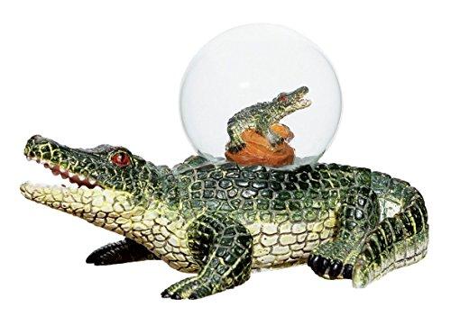 Katerina Prestige me1076Figur Kugel Schnee Krokodil auf Figur Krokodil -