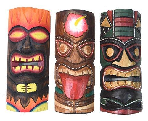 3-Tiki-Mscaras-30cm-IM-HAWAI-Estilo-Juego-de-3-Mscara-de-madera-Mscara-de-pared-ISLA-DE-PASCUA-fidschi