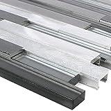 MUSTER Glas Metall Mosaik Fliesen Margariti Schwarz Silber | Wandfliesen | Mosaik-Fliesen | Glasmosaik | Fliesen-Bordüre | Geeignet für alle Bereiche (MUSTER)