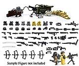 MAGMABRICK Magma Brick: Waffen Set, Stacheldraht, Hundekrieg und Sandsack im zweiten Weltkrieg für Großem Marken Bausteine Minifigur / Legos MOC. 95 Stück
