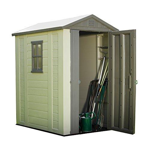 Best deals keter factor resin outdoor garden storage for Best deals on garden sheds