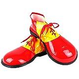 Honeystore Unisex Erwachsene Jumbo Large Clown Schuhe Halloween Kostüme Accessories Zubehör Fasching Karneval Rot