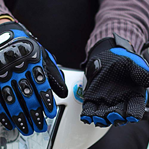 Sntsya Guanti da Moto Touchscreen Guanti da Motocross Impermeabili Guanti da Moto da Motociclista a Dito Pieno per Mountain Bike,Blue,XL
