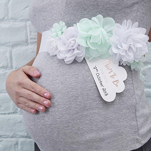 Hello World Mother To Be Bloemenceintuur Mint-wit