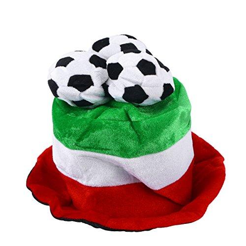 BESTOYARD Fußball Fan Hut Mütze mit Flaggen Fußball Party WM-Hüte Kappen Fußballhut Italien