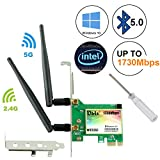 Ubit AC 1730Mbps Bluetooth 5.0 Wireless WiFi Card, 802.11 AC Dual-Band WLAN 1730Mbps