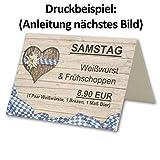 100 Tisch-Karten Bavaria DIN A7 - Falt-Karten 7,4 x 10,5 cm bedruckbar - Namens-Kärtchen für Feste, Biergarten, Gastro, Hotel - von Ihrem Glüxx-Agent - 4