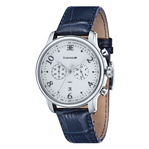 Thomas-Earnshaw-Longitude-Mens-Quartz-Watch-with-Silver-Dial-Analogue-Display-with-Blue-Leather-Strap-ES-8058-01