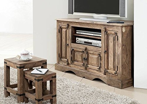 MASSIVMOEBEL24.DE Möbel massiv Holz Palisander geölt grau TV-Eckschrank Sheesham Kolonialstil Massivholz Möbel LEEDS #10