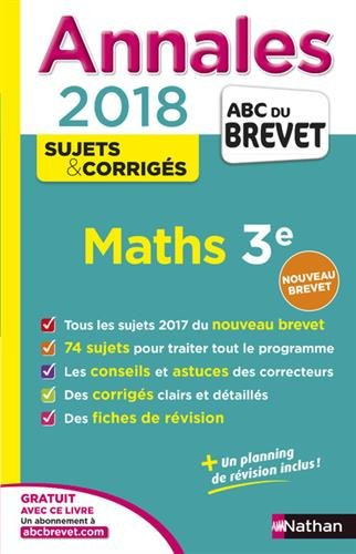 Annales ABC du Brevet Maths 2018