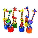 Ama-ZODE Kid Developmental Toy Baby Dancing Rocking Standing Colorful Giraffe Wooden Toys