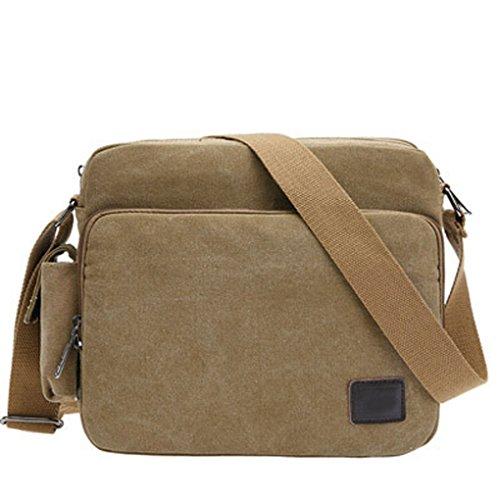 Miaomiaogo Sacchetto di spalla di riciclaggio del sacchetto di spalla del sacchetto di spalla di riciclaggio Cachi