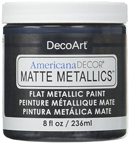 Americana Decor Matte Metallics 8oz-Charcoal -