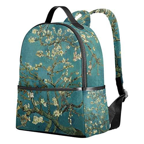 Zaino Scuola Tela Canvas Zaino Casual Daypack Zaino Van Gogh Bloom