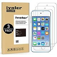 [3 Unidades] iPod Touch 6G & 5G Protector de Pantalla, iVoler Protector de Pantalla de Vidrio Templado Cristal Protector para iPod Touch 6G & 5G -Dureza de Grado 9H, Espesor 0,30 mm, 2.5D Round Edge-[Ultra-trasparente] [Anti-golpe] [Ajuste Perfecto] [No hay Burbujas]- Garantía Incondicional de 18 Meses