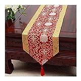 JUNYZZQ Tischläufer Chinesischer Gartentisch Flagge Tischdecke Couchtisch Bett Bett Kabinett Flagge Tisch Lange Tischdecke Europäischen Stoff 30X230 cm