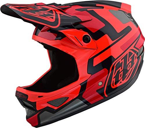 Troy Lee Designs Downhill-MTB-Helm D3 Fiberlite Rot Gr. L