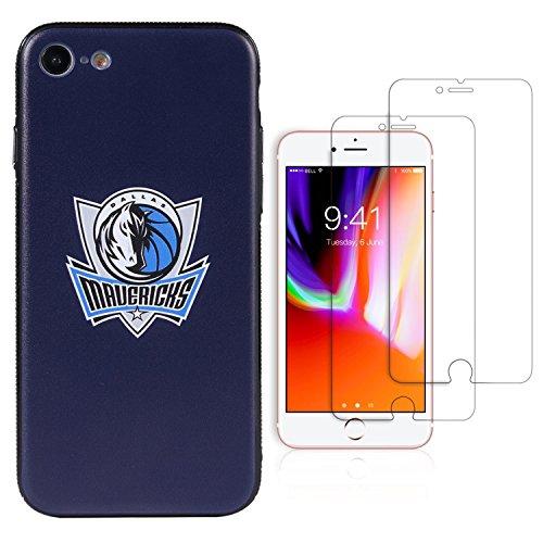 Sportula NBA Telefon Fall, die 2gehärtetem Glas-Protectors-Extra Value Kit für iPhone 8/iPhone 7, 4.7 inch, Dallas Mavericks - Glas Maverick