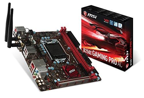 Msi Mini Itx (MSI B250I Gaming Pro AC LGA 1151 DDR4 HDMI,DVI 1x M.2 & 6x USB 3.1 Gen1 ITX Mainboard)