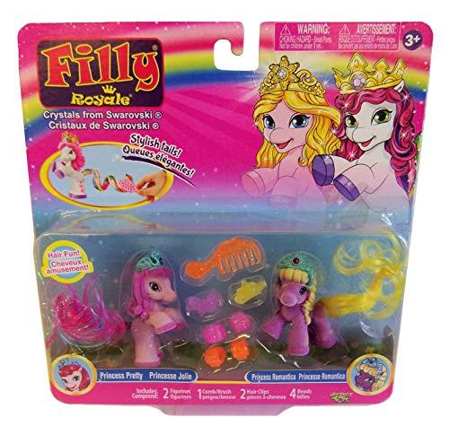 Filly Dracco Pferdchen Royal Spiel- und Sammelfiguren 2er-Set für Kinder, Mädchen (Princess Pretty + Princess Romantica) -