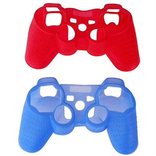 shell-gamepad-custodia-sodialr-2-silicone-pz-rosso-blu-custodia-in-della-pelle-di-sony-ps3