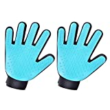 JeeLet Pet Grooming Massage Gloves Dogs Hair Remover Brush Gloves Cats Brush Deshedding Gloves, Set of 2 Right Hands