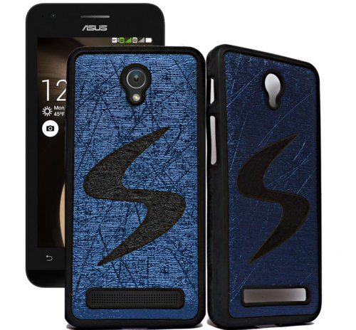 ECellStreet Exclusive Designer Rubberised Soft Back Case Cover Back Cover for Asus Zenfone C ZC451CG - Black in Dark Blue  available at amazon for Rs.149