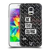 Head Case Designs Be The Alpha Fitness Typographie Ruckseite Hülle für Samsung Galaxy S5 Mini